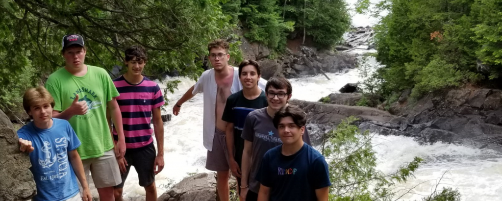 lads at ragged falls